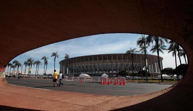 Estádio Nacional Mané Garrincha, em Brasília, apresenta vazamentos no teto - Foto: Raul Spinassé | Ag. A TARDE
