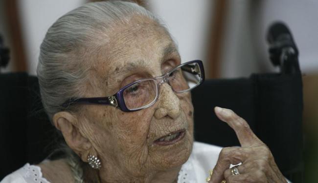 Dona Canô faleceu em casa no natal de 2012, aos 105 anos - Foto: Luiz Tito | Ag. A Tarde