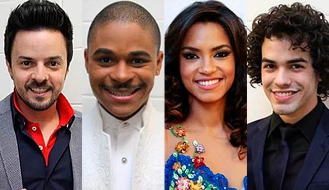 Rubens Daniel, Pedro Lima, Lucy Alves e Sam Alves estão na final - Foto: TV Globo | Divulgação