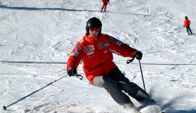 Michael Schumacher esquia em resort italiano em janeiro deste ano - Foto: Agência Reuters