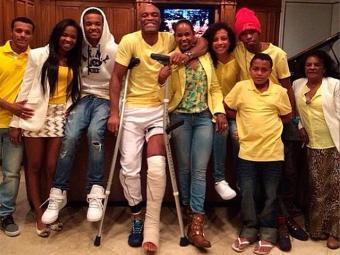 Anderson Silva passou a virada de ano ao lado da família, em casa, em Los Angeles - Foto: Instagram | Reprodução