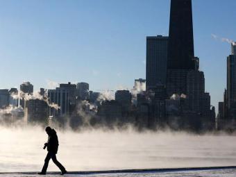 Frio intenso foi provocado por vórtice polar - Foto: Jim Young | Reuters