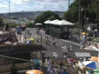 Fiéis já começam a chegar na Colina Sagrada - Foto: Reprodução | Vejoaovivo