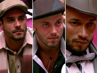 Diego, João e Valter foram o primeiro paredão do BBB 14 - Foto: TV Globo | Divulgação
