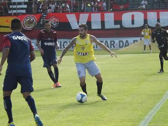 O meia Escudero foi um dos destaques na goleada do Vitória por 5 a 0 sobre a Jacuipense - Foto: Assessoria do Vitória | Divulgação
