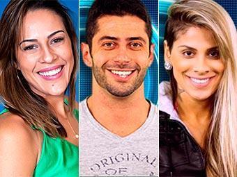 Princy, Marcelo e Vanessa estão no paredão do BBB 14 - Foto: TV Globo   Reprodução