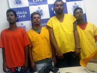 Integrantes da quadrilha foram presos durante a operação - Foto: Divulgação | Polícia Civil