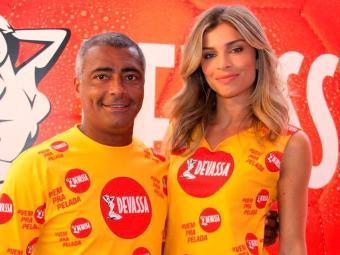 Romário e Grazi vão estrelar a campanha de Carnaval da cervejaria - Foto: Divulgação