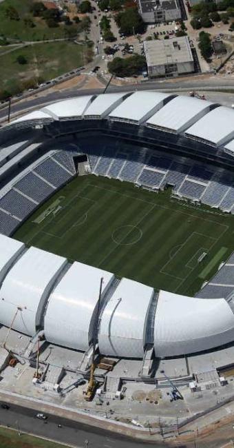 Arena das Dunas, que é o estádio de Natal, recebeu o primeiro jogo neste domingo - Foto: Sergio Moraes | Ag. Reuters
