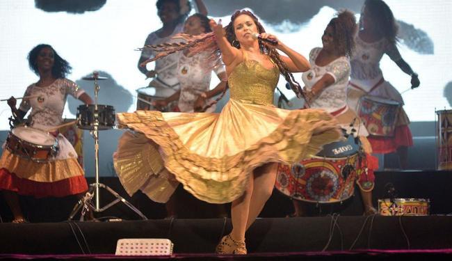 Cantora reuniu no palco pela primeira vez Ilê Aiyê, Olodum e Banda Didá - Foto: Max Haack | Divulgação | Agecom