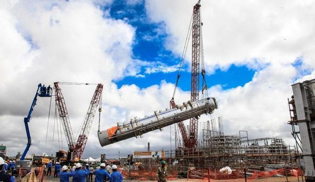 Canteiro de obras da fábrica da Basf em Camaçari: multinacional está investindo R$ 1,2 bi na Bahia - Foto: Ulisses Dumas | Ag. Bapress | Divulgação