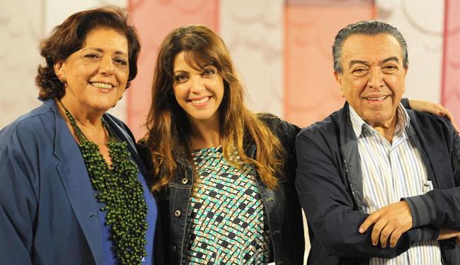 Leda Nagle entrevistou a jornalista Thalita Rebouças e o criador da Turma da Mônica, Maurício de Sou - Foto: Ana Paula Migliari   Divulgação