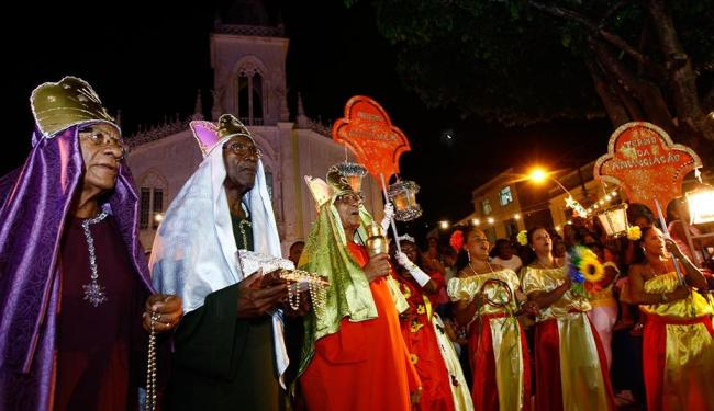 Terno da Anunciação abriu o desfile, neste domingo, e encerra festa após missa na Lapinha hoje - Foto: Fernando Vivas | Ag. A TARDE