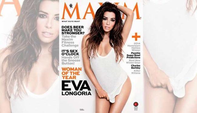 Eva Longoria estrela a edição de janeiro da Maxim - Foto: Divulgação