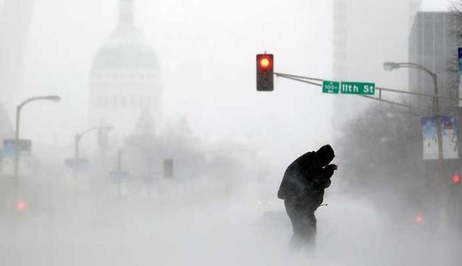 Temperatura nos Estados Unidos e Canadá chegou a -40ºC - Foto: Agência AP