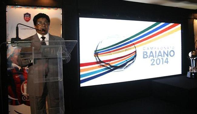 Presidente Ednaldo Rodrigues apresentou o Baianão 2014, que começa sem os grandes - Foto: Carlos Santana l FBF l Divulgação