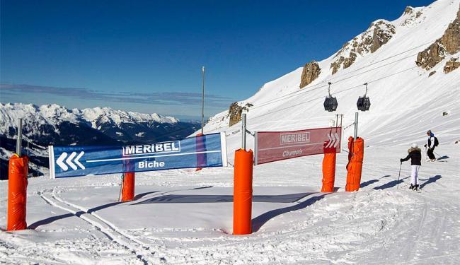 Pista de esqui em Meribel, nos Alpes franceses - Foto: Agência Reuters