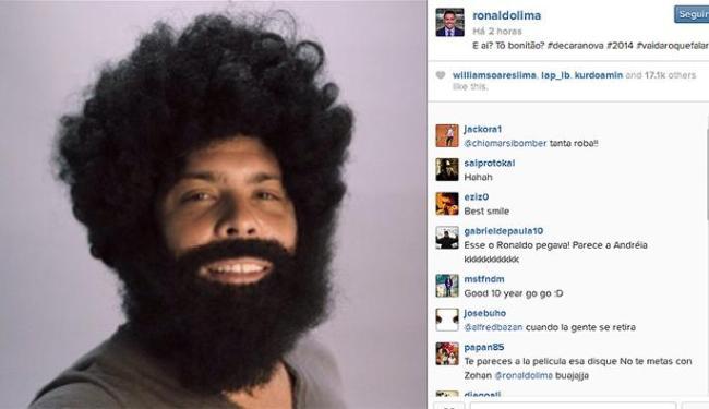 Ex-jogador surpreende seguidores com uma peruca e barba imensa - Foto: Reprodução l Instagram