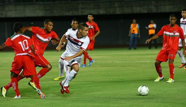 Com um gol de Marcel, Jacuipense bateu Serrano por 1 a 0 em jogo em Pituaçu - Foto: Margarida Neide / Ag. A TARDE