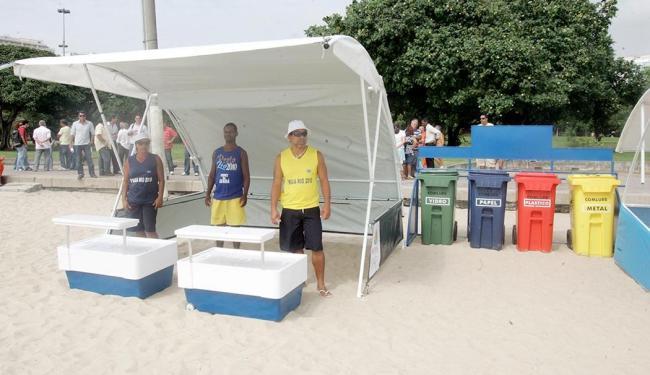 Protótipo do modelo das tendas que serão utilizadas em Salvador - Foto: Alessandro Costa | Agência O Dia