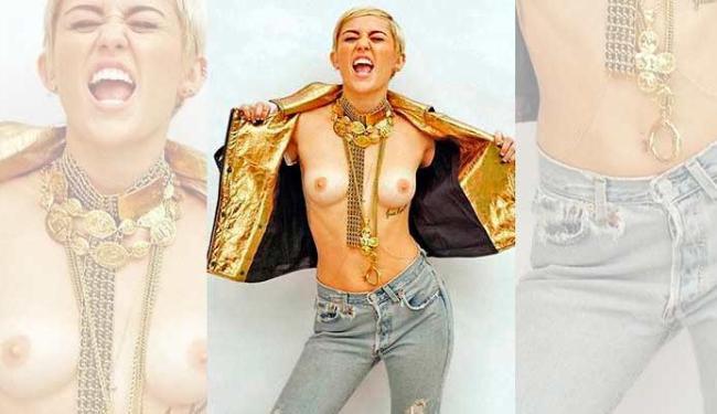 Miley Cyrus aparece bem à vontade na revista Maxim - Foto: Reprodução | Internet