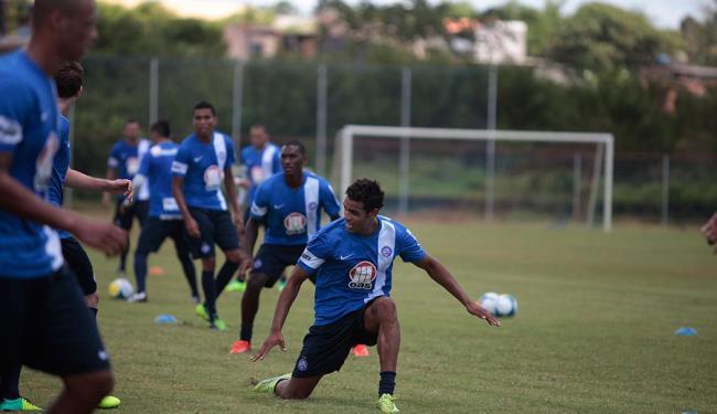 Volante Diego Felipe treina com os demais reforços do Bahia - Foto: Edilson Lima | Ag. A TARDE