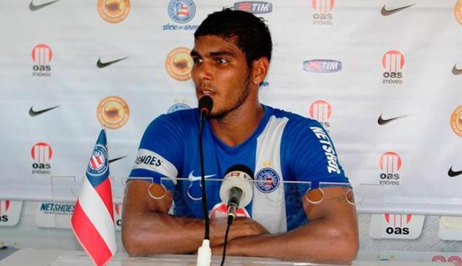 Atacante quer aproveitar espaço para garantir vaga no elenco tricolor em 2014 - Foto: Assessoria do E.C. Bahia   Divulgação
