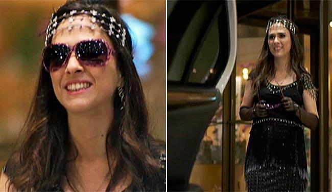Valdirene usa modelito especial para entrar no reality show - Foto: TV Globo   Divulgação