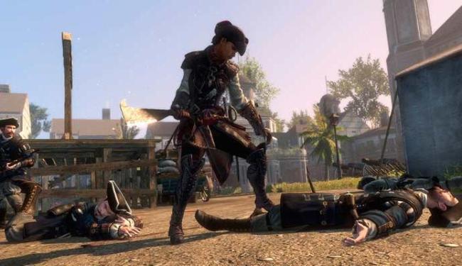 Aveline é a heroína do jogo, que se passa na pré-Revolução americana - Foto: Divulgação