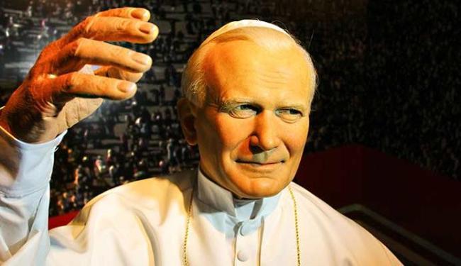João Paulo II será uma das figuras retratadas no museu de cera que chega a Salvador - Foto: Fabiano Guma | Divulgação
