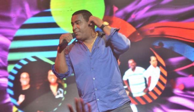 Cantor da banda, Luiz Carlos, foi um dos feridos no acidente - Foto: Divulgação | Site Raça Negra
