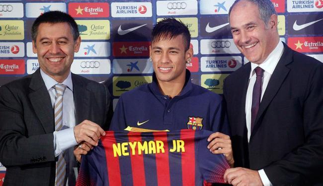 Neymar chegou ao Barça em maio de 2013 e valores da negociação ainda são contraditórios - Foto: Agência Reuters
