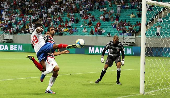Rhayner (19) voa para marcar o gol do Esquadrão - Foto: Vaner Casaes | Ag. A TARDE