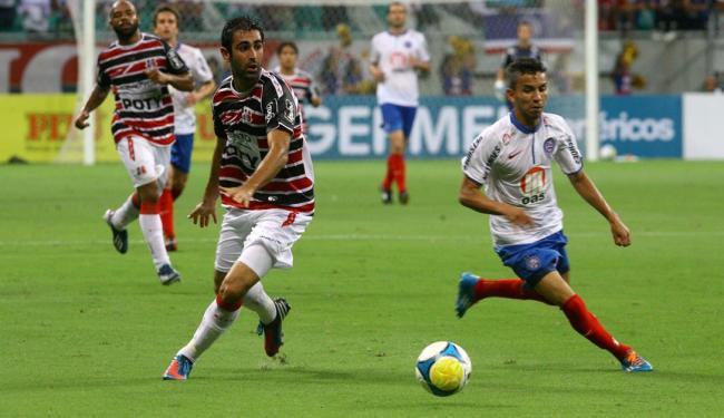 Primeiro jogo entre as equipes na fase de grupos terminou em 1 a 1 na Arena Fonte Nova - Foto: Margarida Neide | Ag. A TARDE