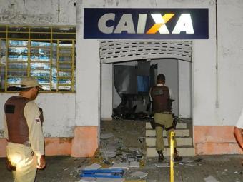 Caixa eletrônico explodido em Anguera - Foto: Reprodução | Anguera Online