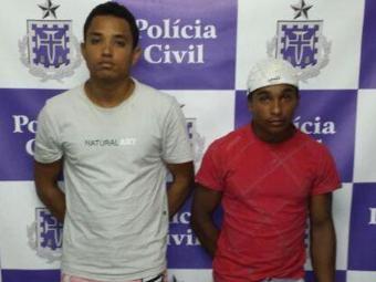 Fabrício e Uebert estão custodiados na carceragem do Complexo Policial de Alagoinhas - Foto: Divulgação/ Polícia Civil