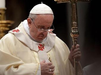 Papa durante missa na Basílica de São Pedro, no Vaticano - Foto: Filippo Monteforte   AFP