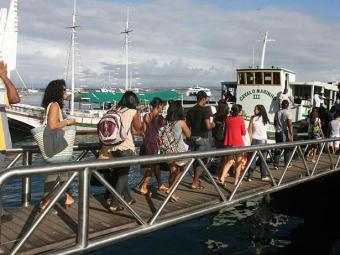 O último horário saindo de Salvador será às 20h e de Mar Grande, às 18h30 - Foto: Arestides Baptista | Ag A TARDE.