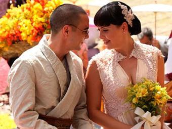 Casal se casa em cerimônia celebrada por Pérola - Foto: TV Globo | Divulgação