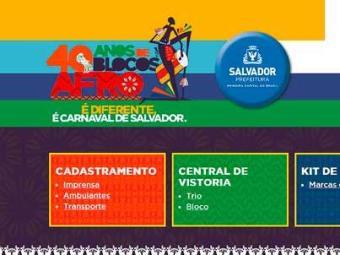Na página, o folião encontra informações sobre a folia de Salvador - Foto: Divulgação