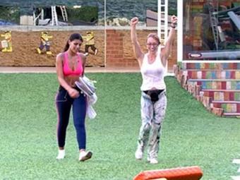 Aline venceu a prova de resistência após 7h10 - Foto: TV Globo | Divulgação