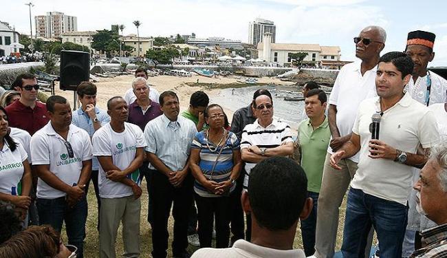 Prefeito apresentou projeto que vai reestruturar trecho entre a praia da Paciência e os arredores da - Foto: Luciano da Matta | Ag. A TARDE
