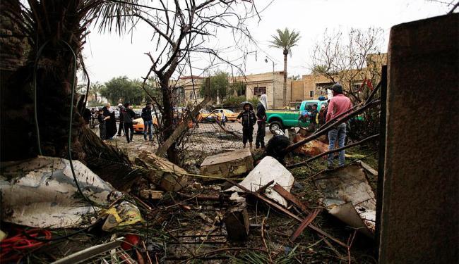Cenário de destruição após as explosões - Foto: Agência Reuters