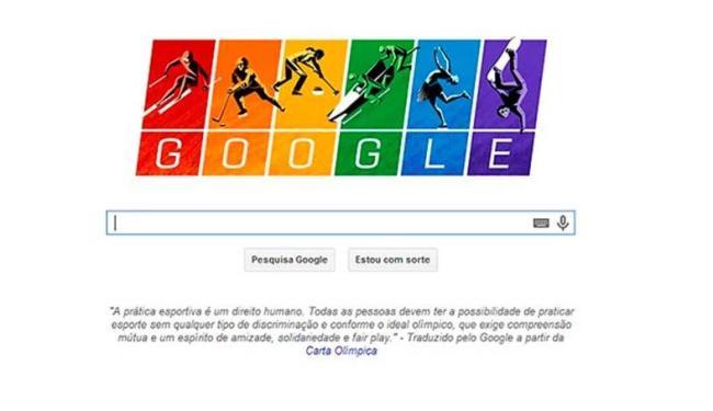 Doodle destaca igualdade nos esportes olímpicos - Foto: Reprodução   Google