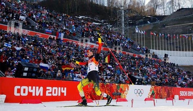 Agora, a Alemanha lidera a disputa dos Jogos de Inverno 2014 com seis medalhas de ouro - Foto: Michael Dalder l Reuters