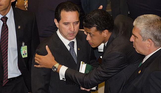 Natan Donadon acompanha a sessão no Plenário da Câmara - Foto: Jose Cruz l Agência Brasil