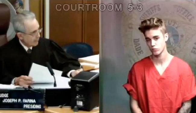 Justin foi condenado a pagar fiança de US$ 2.500 - Foto: TMZ   Reprodução
