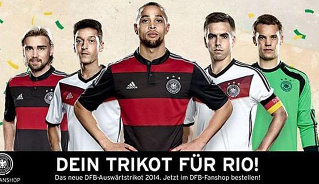 Uniforme número 2 da Alemanha para a Copa é inspirado no Flamengo - Foto: Divulgação