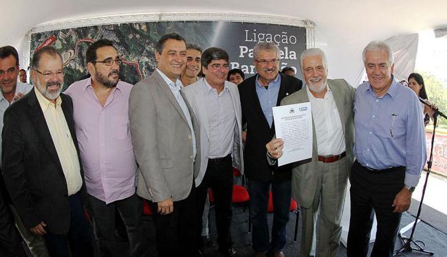 Autorização para início das obras foi assinada durante evento no estádio - Foto: Manu Dias | GovBA