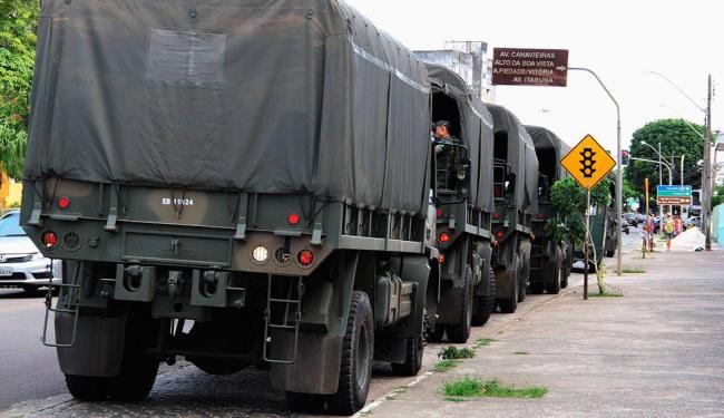 Serão enviados para a região 524 militares do Exército - Foto: Joá Souza | Ag. A TARDE